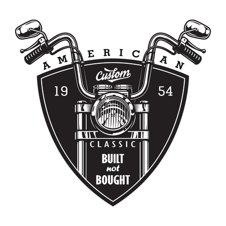 Vintage custom american motorcycle logo Banque d'images - 104980983