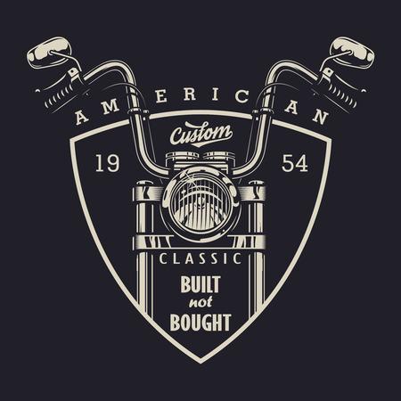 Vintage classic motorbike logotype