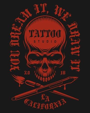 Tattoo vintage emblem