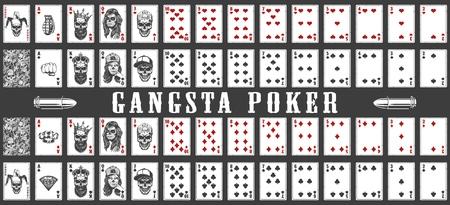 mazzo di carte da gioco gangsta Archivio Fotografico