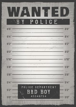 Fondo de ficha policial