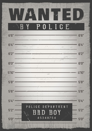 Police mugshot background Stock Photo