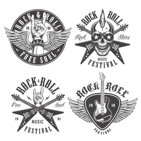 Emblemas de rock and roll