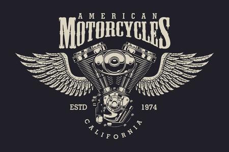 Vintage custom motorcycle label Foto de archivo