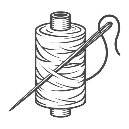 Vintage naaien spoel concept Stockfoto