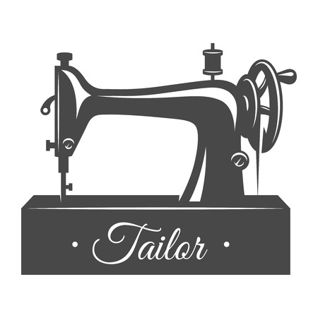 Vintage sewing machine concept Stockfoto - 105272329