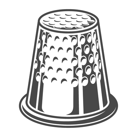 Vintage sewing thimble template