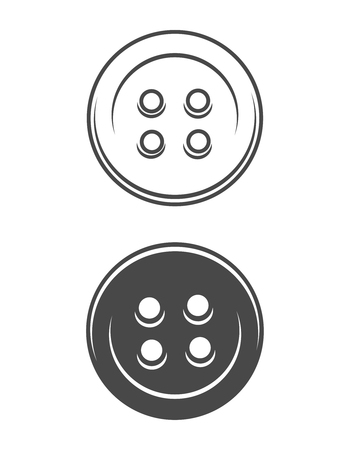 Vintage sewing buttons concept