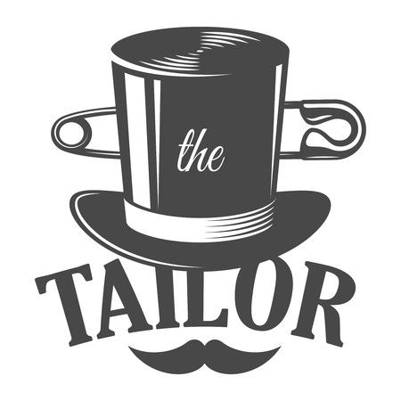 Vintage tailor monochrome logotype template