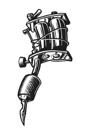 Concepto de máquina de tatuaje vintage