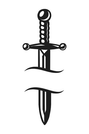 Vintage sharp dagger template
