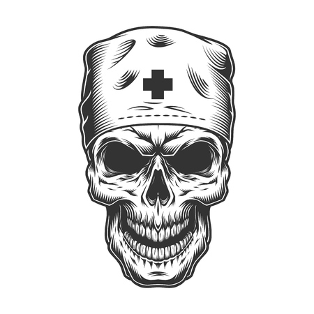 skull in doctor mask
