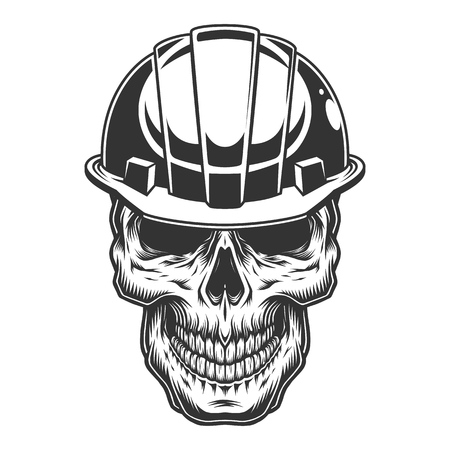 Skull in the miner helmet Stockfoto - 105271307