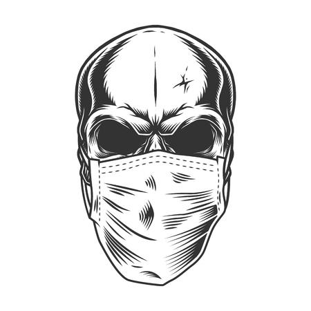 Skull in the medical mask
