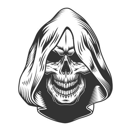 Skull in the hood