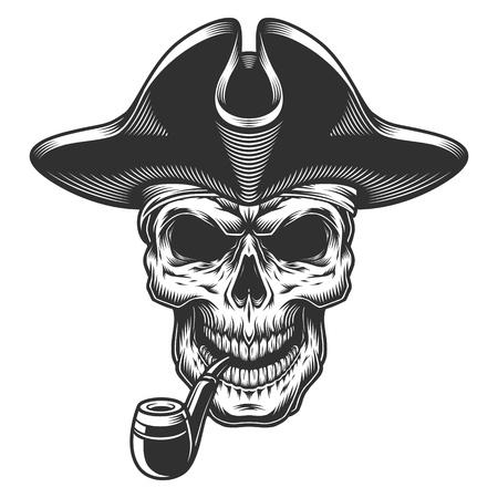 Skull with beard Illustration