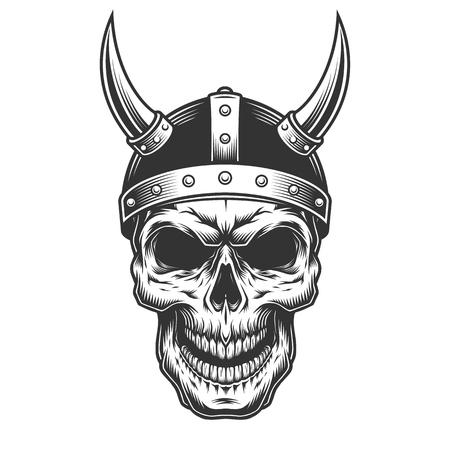 Skull in the viking helmet