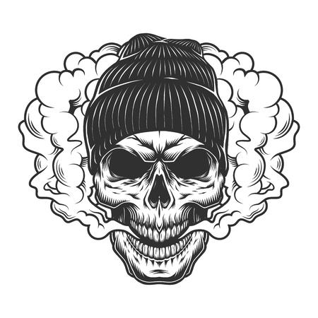 Concepto de vaper de cráneo