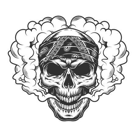 Skull vaper concept Ilustração