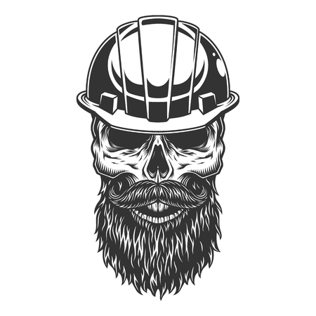 Skull in the miner helmet