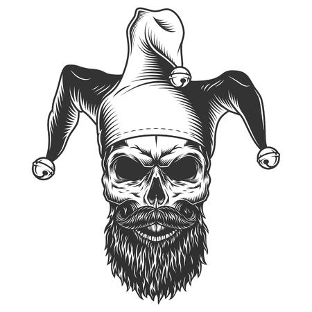 Crâne dans le chapeau de bouffon Vecteurs