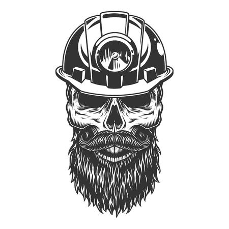 Skull in the miner helmet