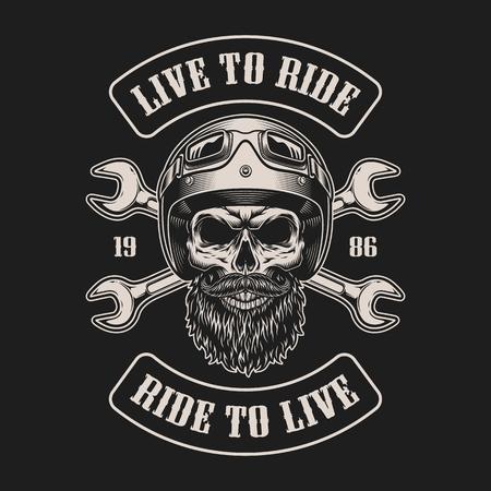 Emblème de motard vintage