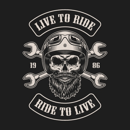 Emblema de motociclista vintage