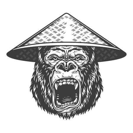 Angry gorilla in monochrome style Banque d'images - 106502479