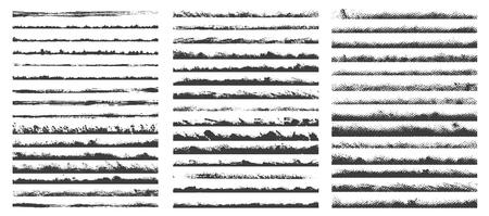 Set of halftone and grunge brushes. Vector illustration