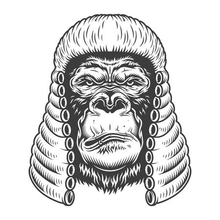 Serious gorilla in monochrome style Archivio Fotografico - 106614876