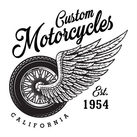 Monochrome custom motorcycle logotype