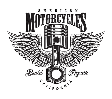Vintage monochrome motorcycle label