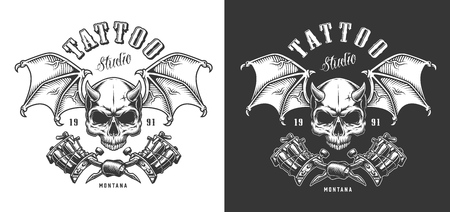 Tattoo saloon emblem Illustration