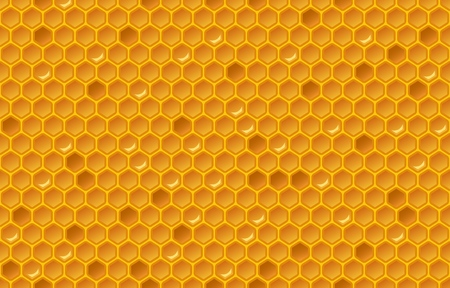 Honing kam patroon. Glitterontwerp. vector illustratie