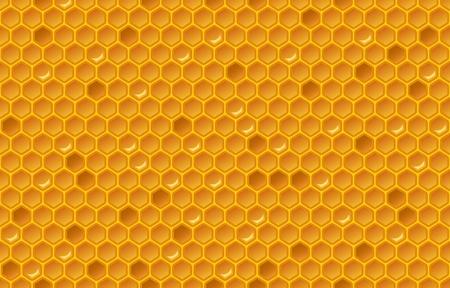 Honey comb pattern. Glitter design. vector illustration