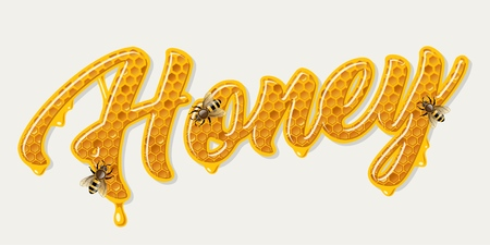 Honey comb lettering