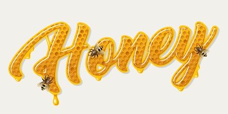 Honey comb lettering Stok Fotoğraf - 106926806