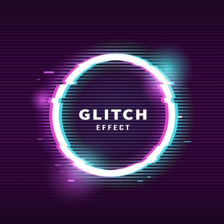 Glitch effect for frame Illustration