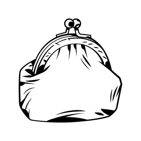 Borsa in stile fumetto. Illustrazione del fumetto di vettore Vettoriali