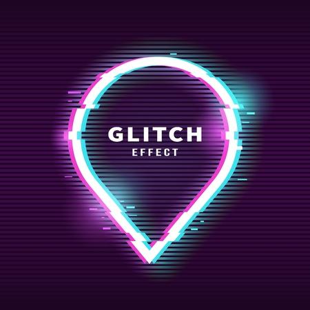 Glitch effect for frame 일러스트