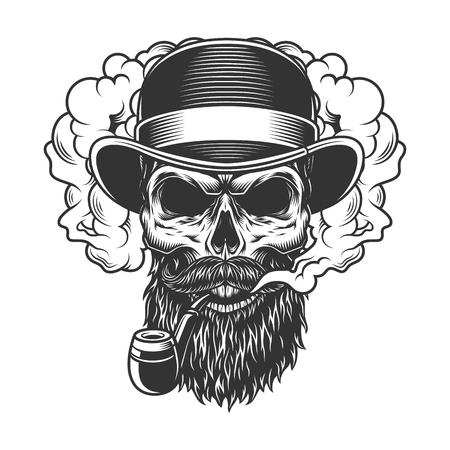 Skull in smoke cloud Foto de archivo - 108111523
