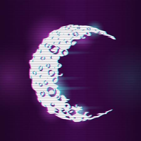 ilustración del concepto con efecto glitch