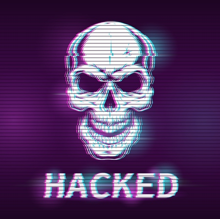 Hacking concept illustration with glitch effect. Vector digital illustration Banco de Imagens - 110431274