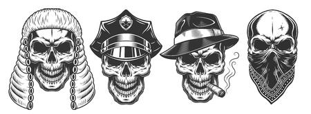 Set of skull Banco de Imagens - 108111643