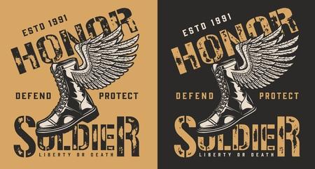 Military brand emblem Illustration