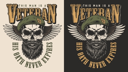 Veteran concept emblem Stock fotó - 108098089