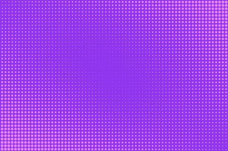 Comic bright background with halftone humor effects in purple color vector illustration Stok Fotoğraf - 109639707