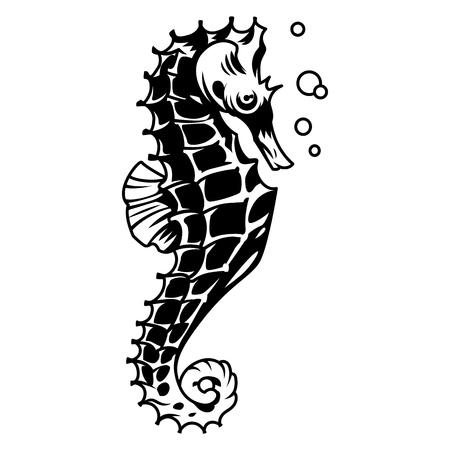 Vintage zee anker concept in zwart-wit stijl geïsoleerde vectorillustratie