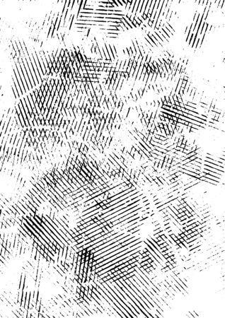 Retro linear grunge texture concept with scratched stripes  illustration Ilustração